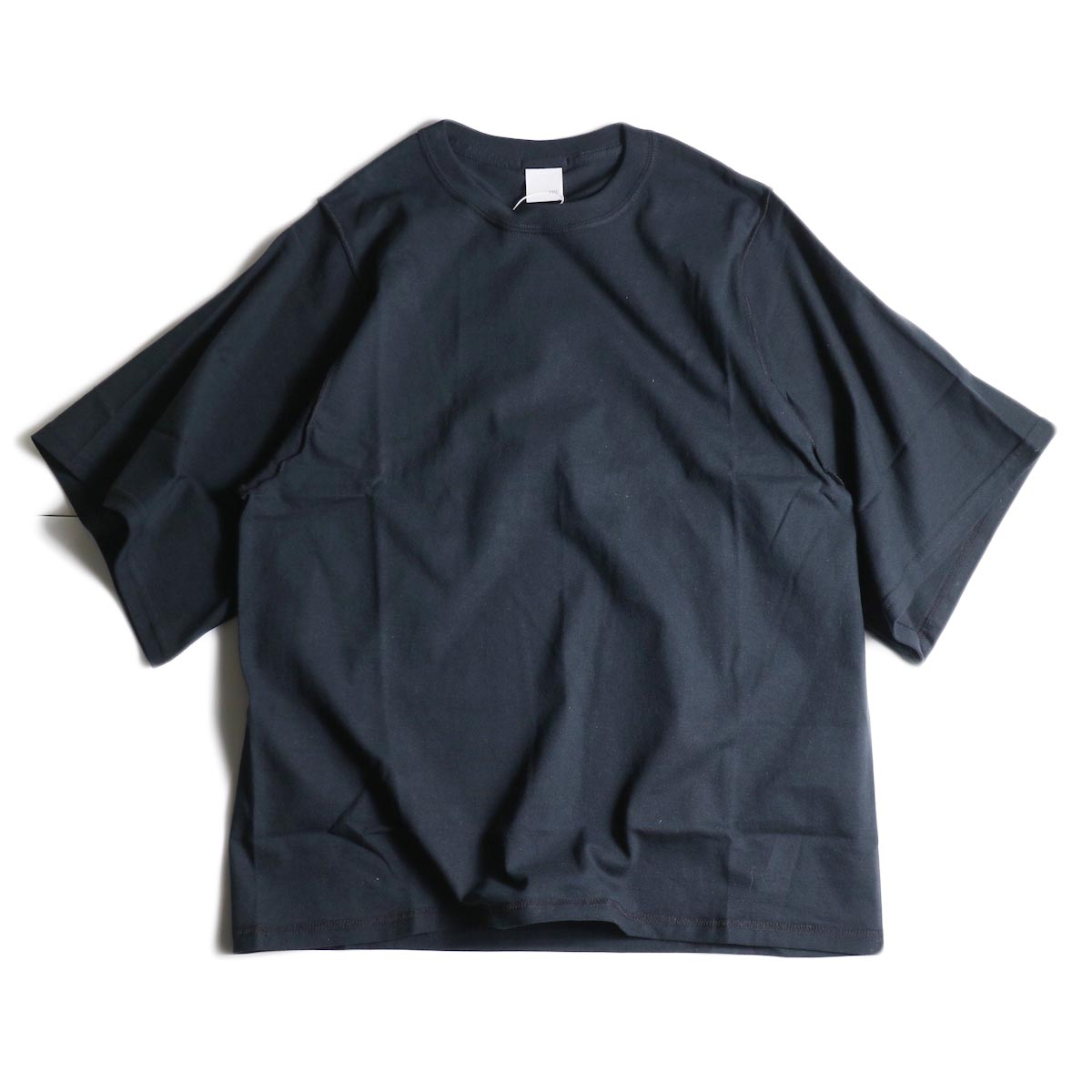 PRE_ / INSIDE OUT WIDE SLEEVE T (Black)正面