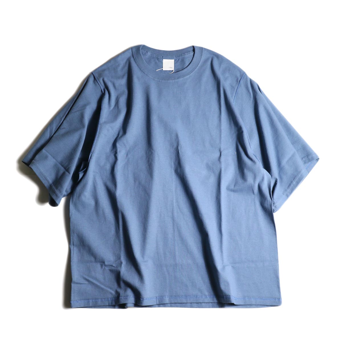 PRE_ / INSIDE OUT WIDE SLEEVE T (Indigo Blue)正面