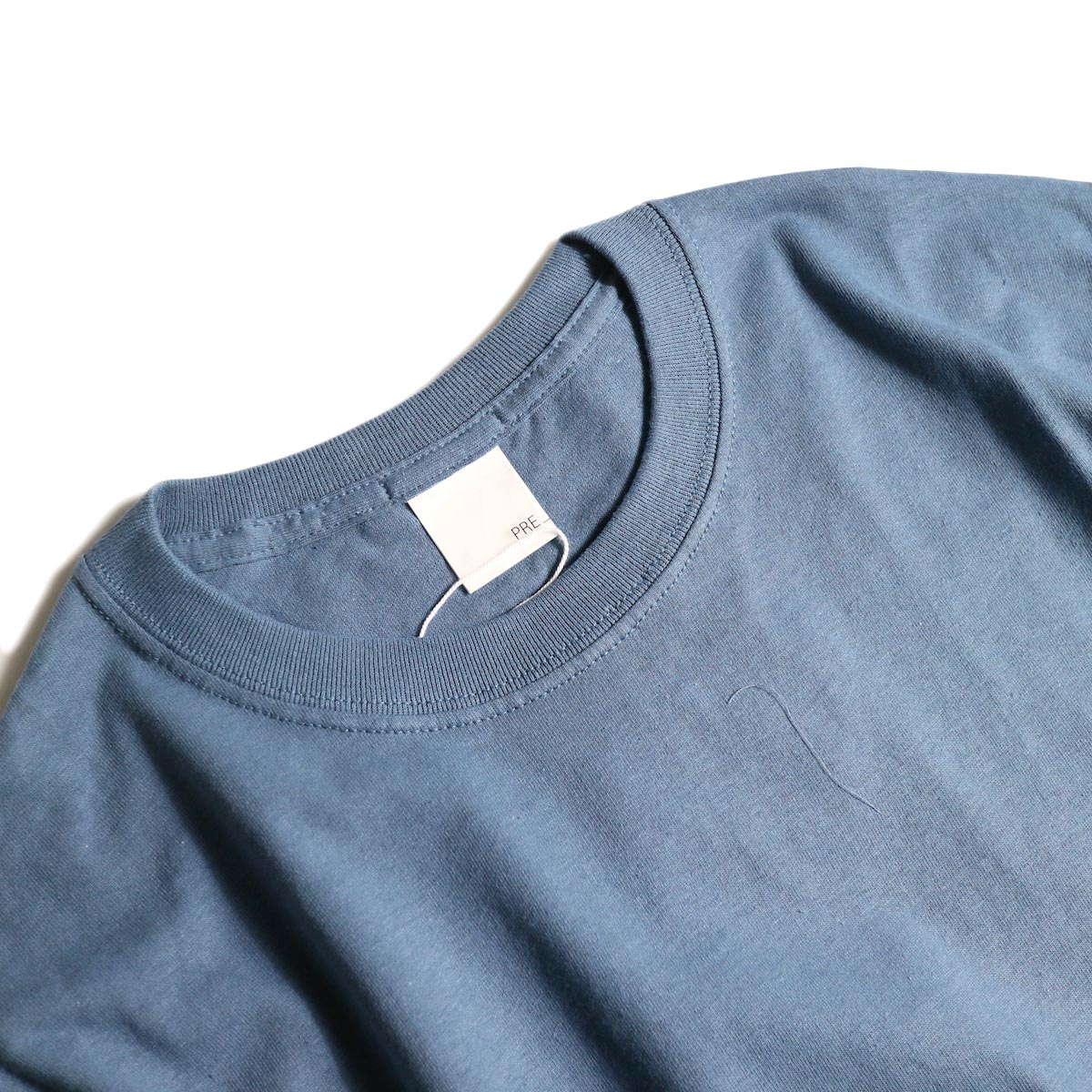 PRE_ / INSIDE OUT WIDE SLEEVE T (Indigo Blue)襟