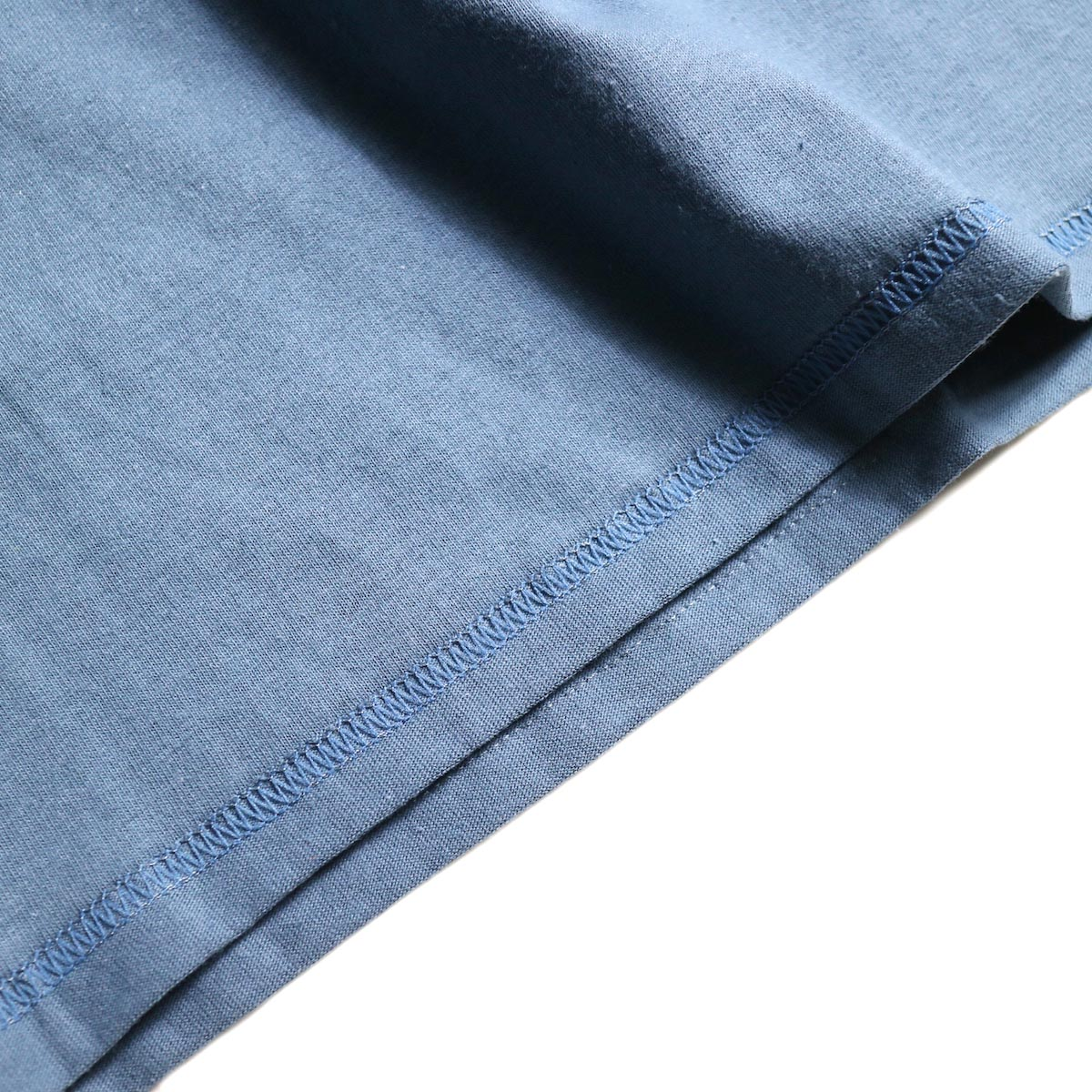PRE_ / INSIDE OUT WIDE SLEEVE T (Indigo Blue)裾