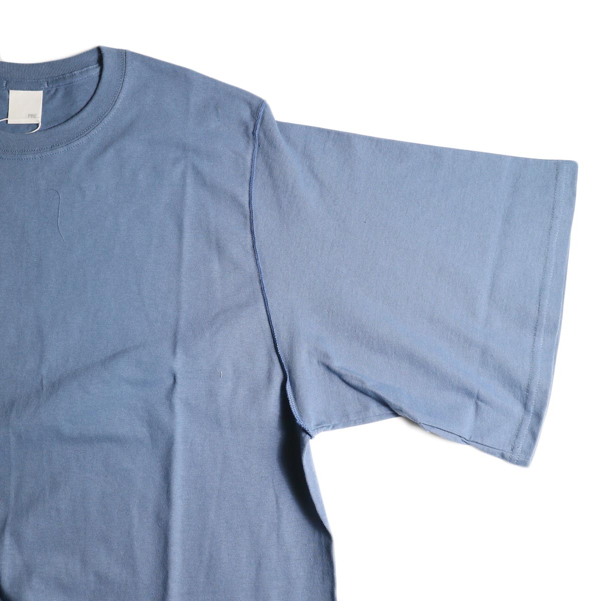 PRE_ / INSIDE OUT WIDE SLEEVE T (Indigo Blue)袖