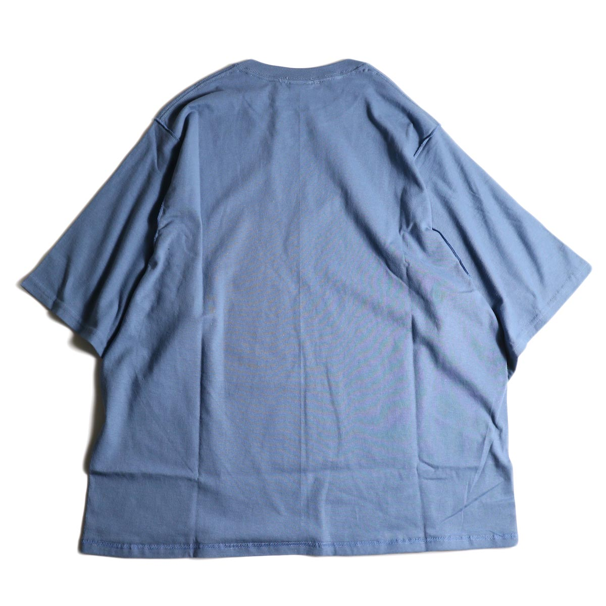 PRE_ / INSIDE OUT WIDE SLEEVE T (Indigo Blue)背面