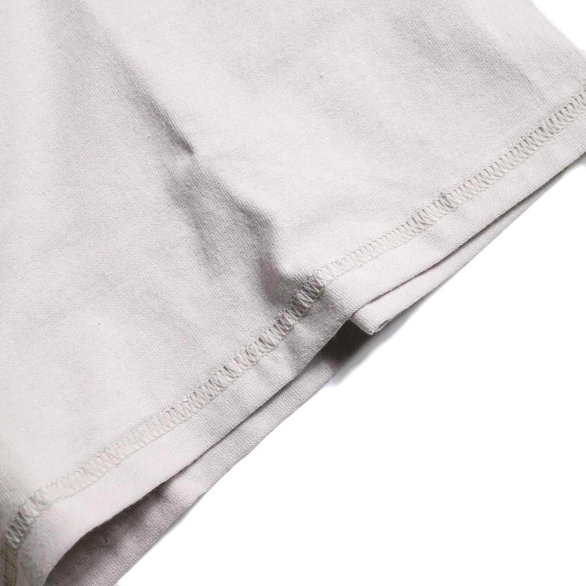 PRE_ / INSIDE OUT WIDE SLEEVE T (Ice Gray)裾