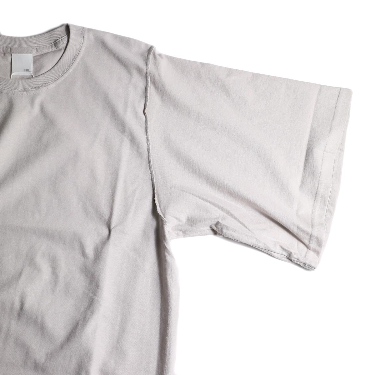 PRE_ / INSIDE OUT WIDE SLEEVE T (Ice Gray)袖