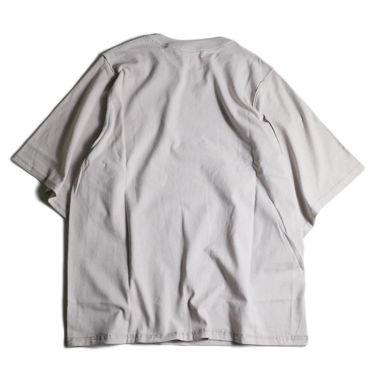 PRE_ / INSIDE OUT WIDE SLEEVE T (Ice Gray)背面