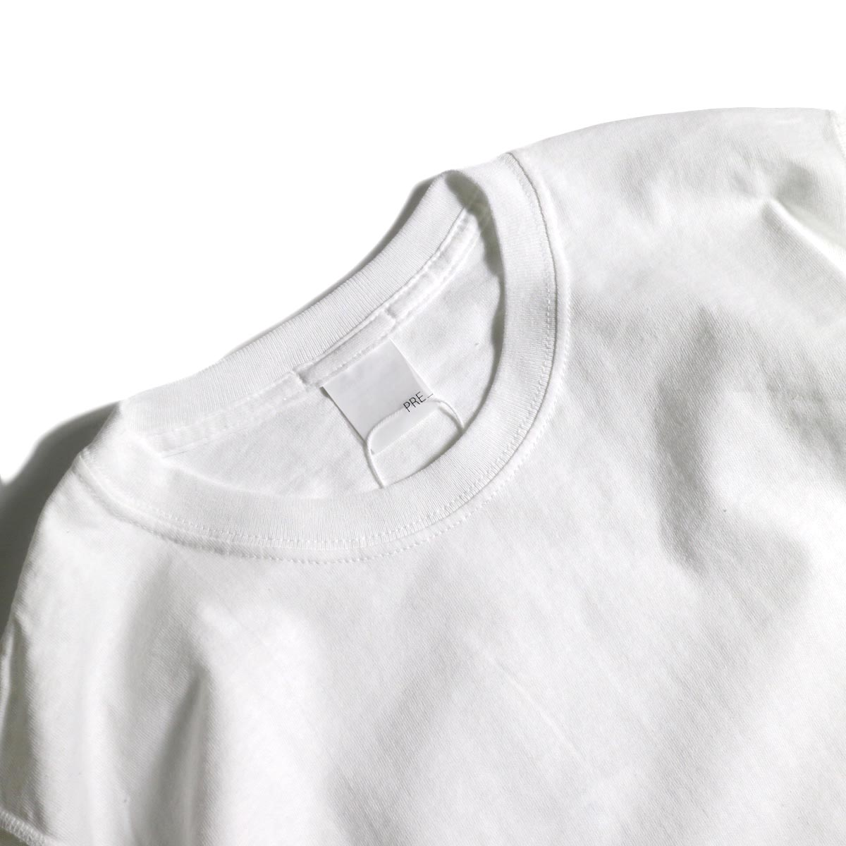 PRE_ / INSIDE OUT WIDE SLEEVE T (White)襟