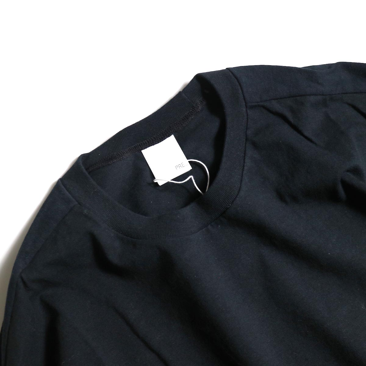 PRE_ / LINE 3/4 SLEEVE LS T (Black)襟