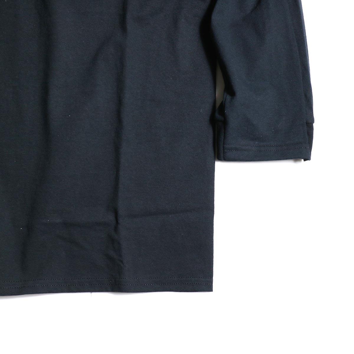 PRE_ / LINE 3/4 SLEEVE LS T (Black)袖、裾