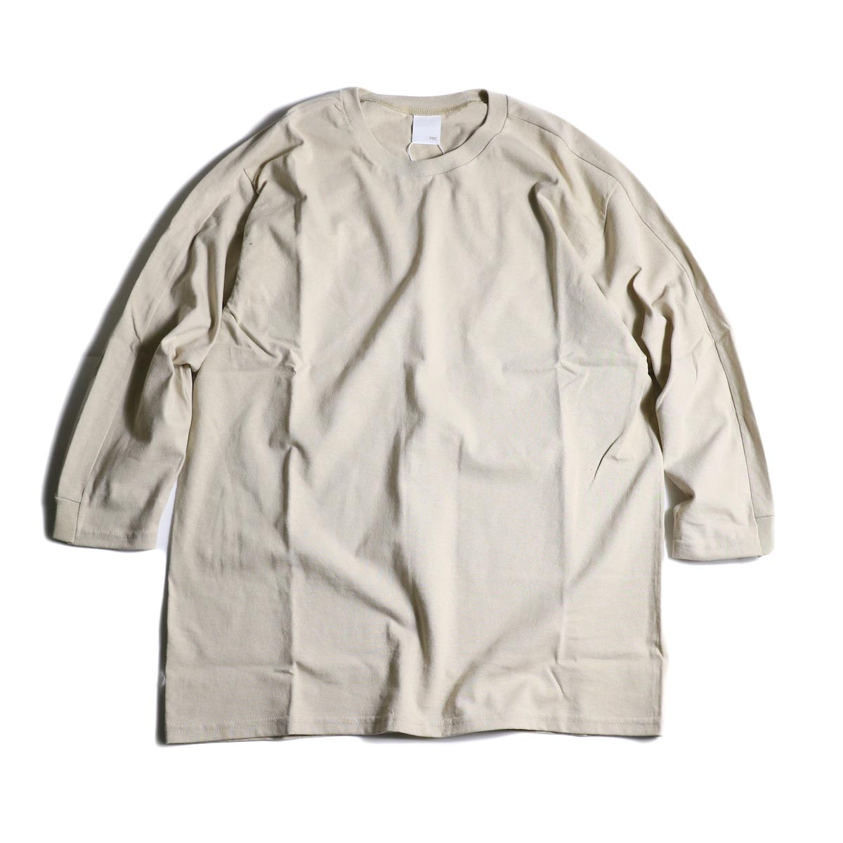 PRE_ / LINE 3/4 SLEEVE LS T (Sand)正面