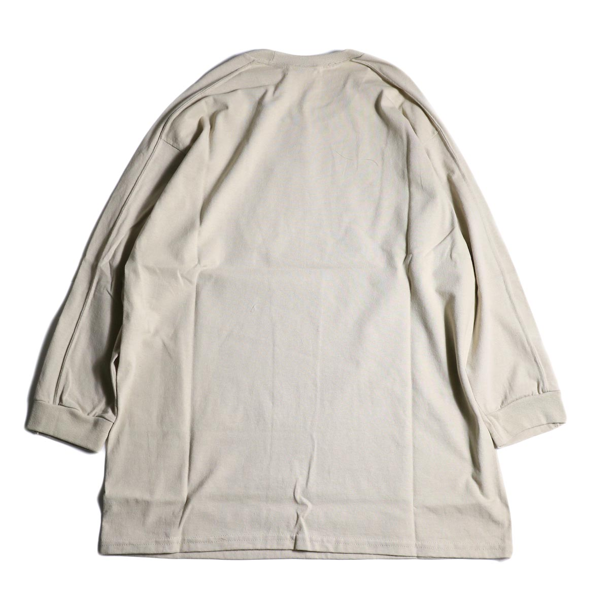 PRE_ / LINE 3/4 SLEEVE LS T (Sand)背面