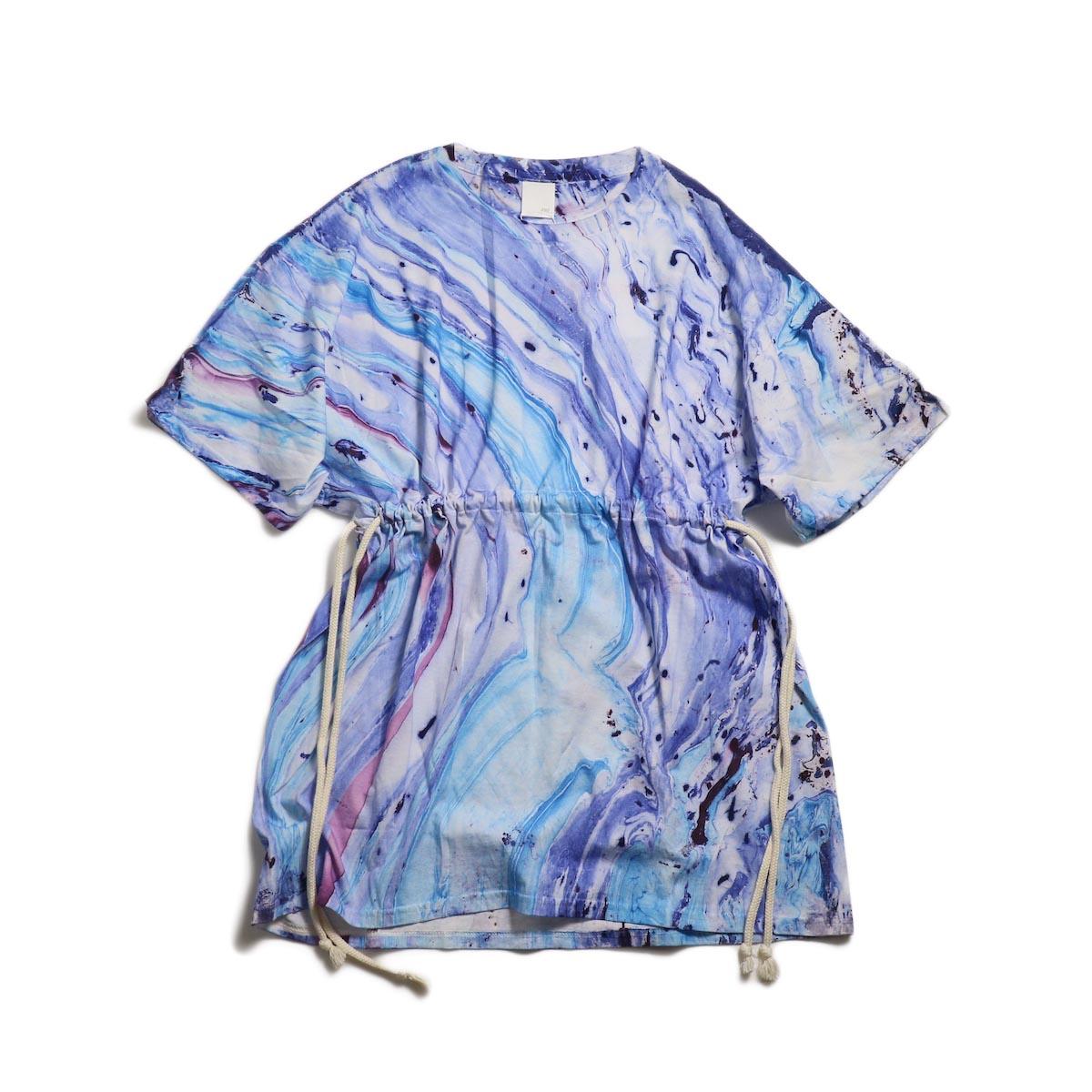 PRE_ Marble Tye Dye Tee W / Drawcord for W -M.10