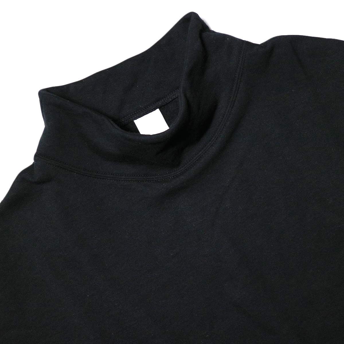 PRE_ / MOCK NECK SHORT (black) 襟