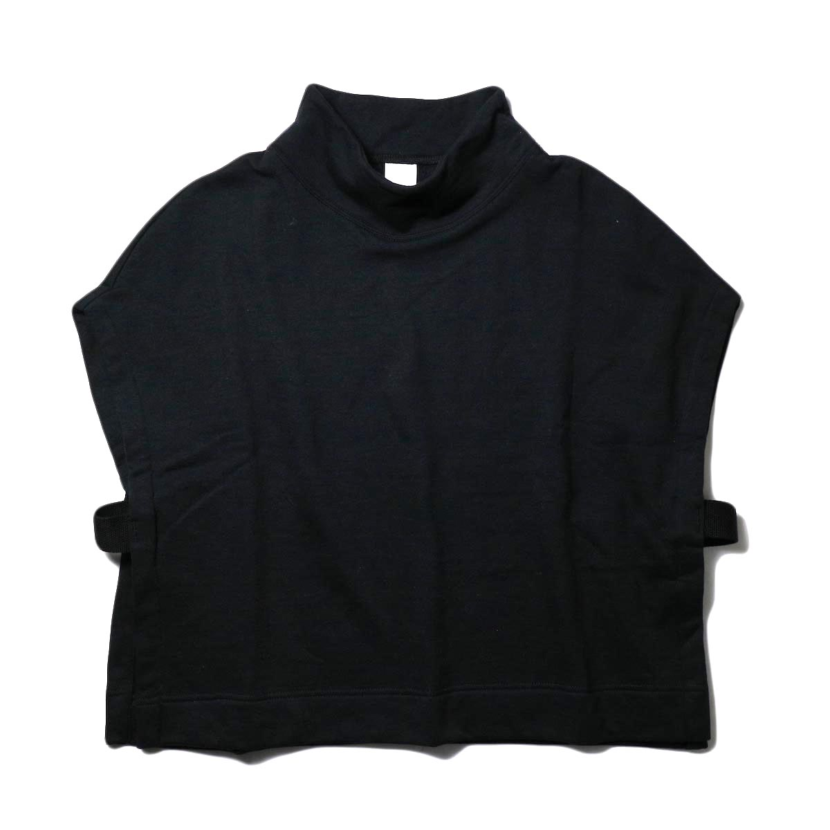 PRE_ / MOCK NECK SHORT (black) 正面