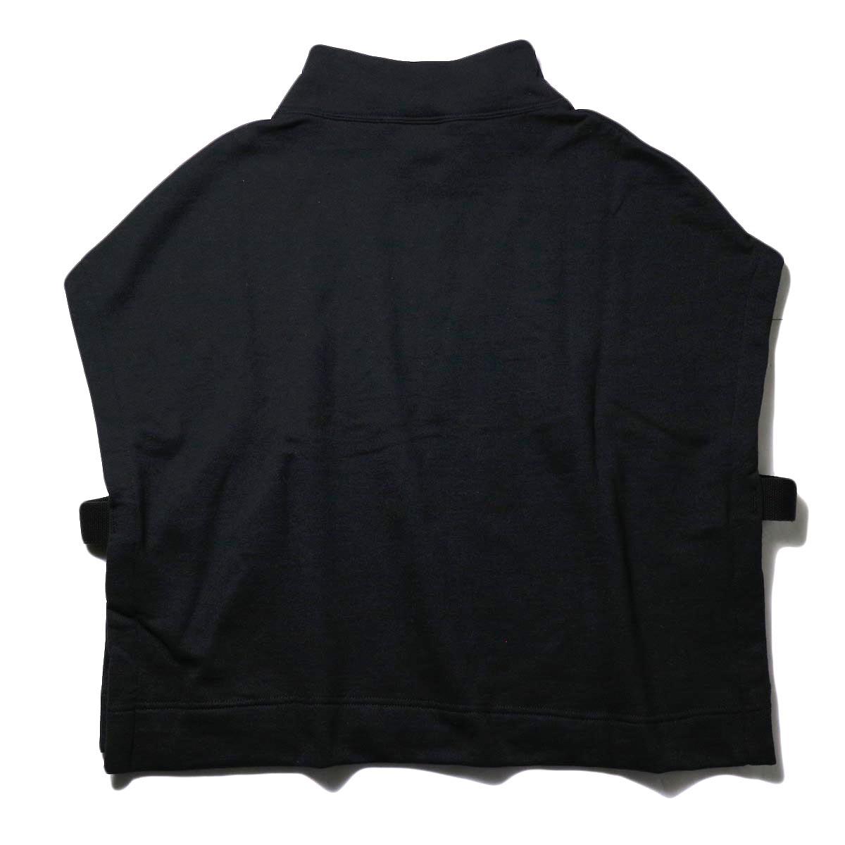 PRE_ / MOCK NECK SHORT (black) 背面
