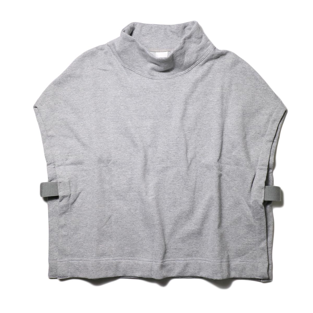 PRE_ / MOCK NECK SHORT (s.gray) 正面