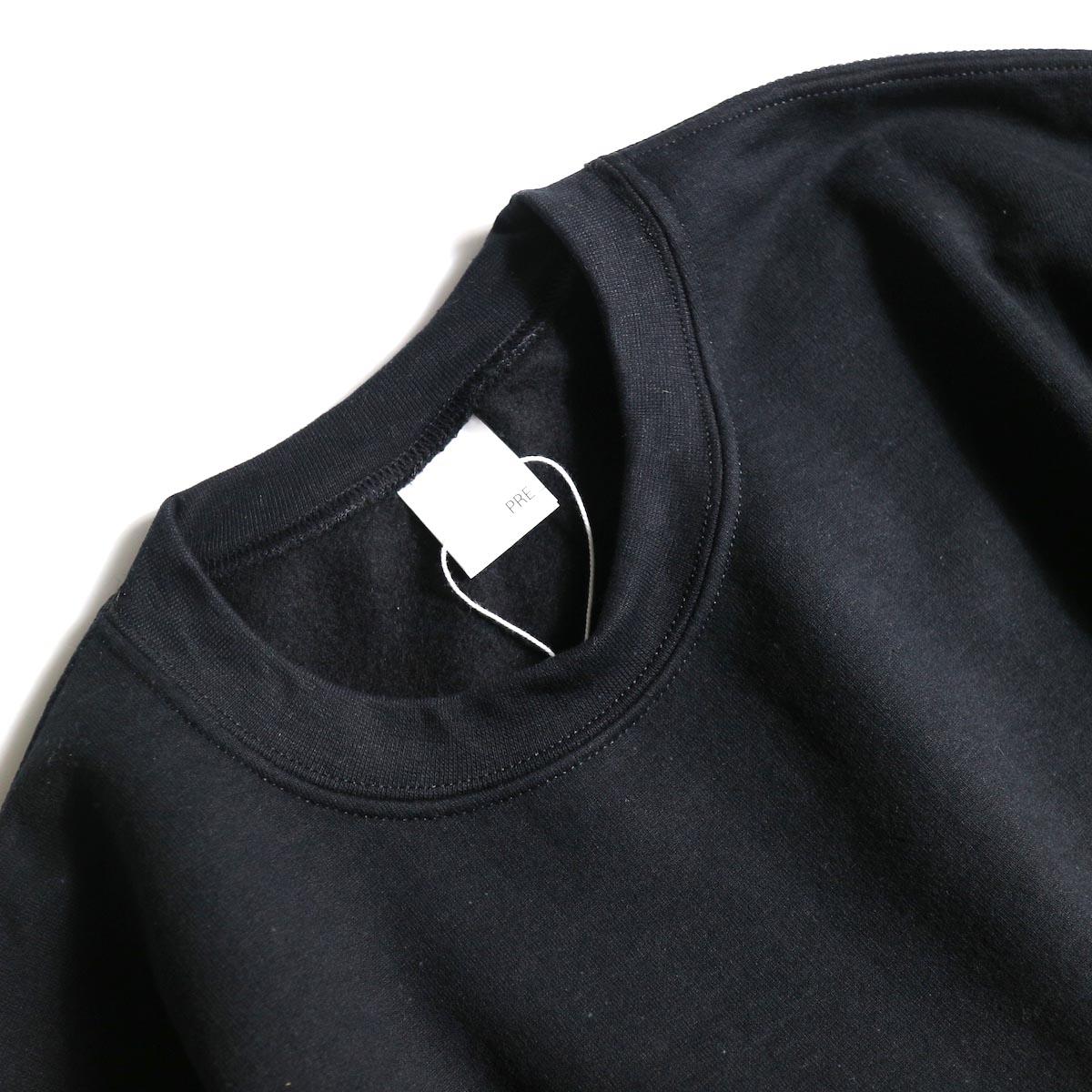 PRE_ / P-STYLE SWEAT (Black)襟