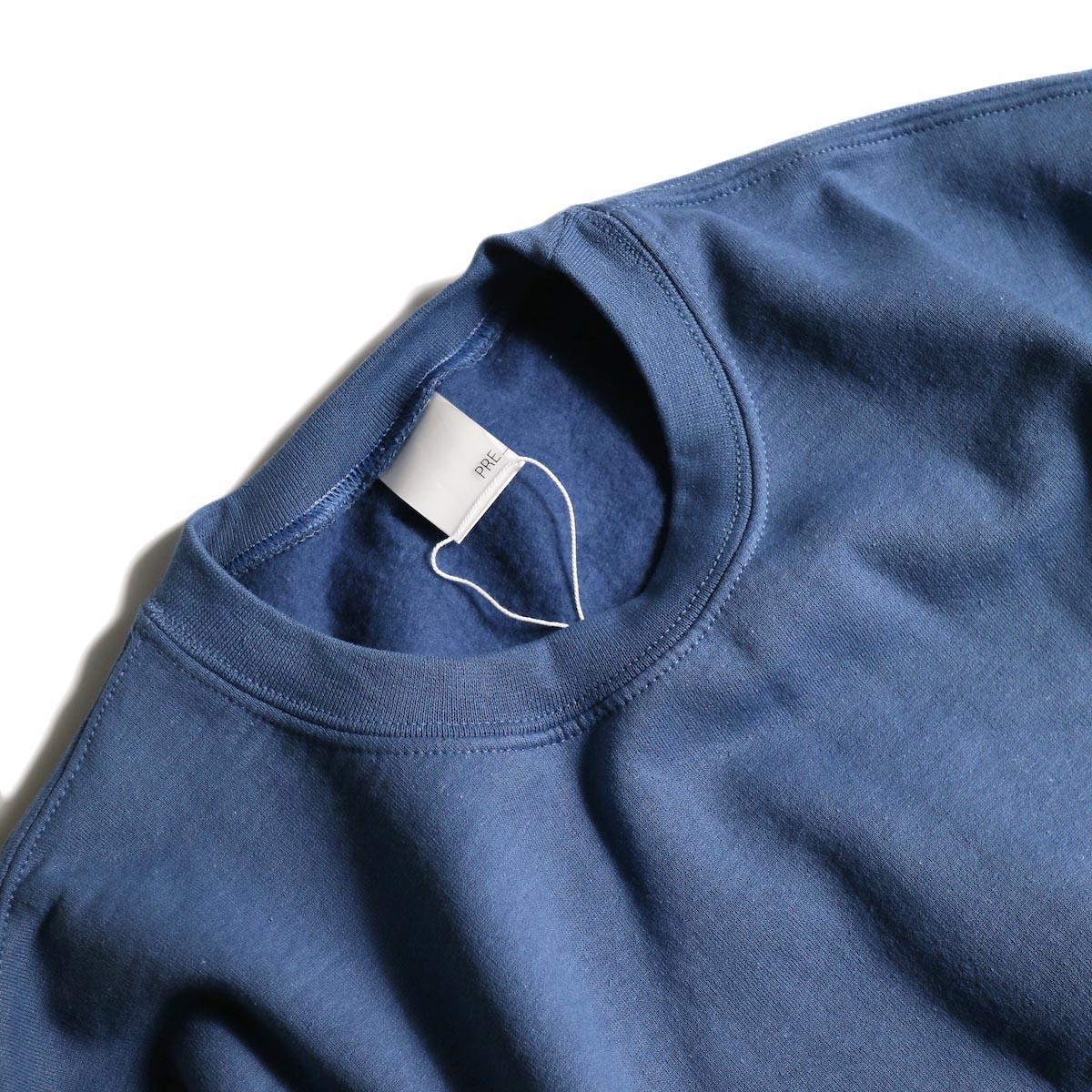 PRE_ / P-STYLE SWEAT (Indigo Blue)襟