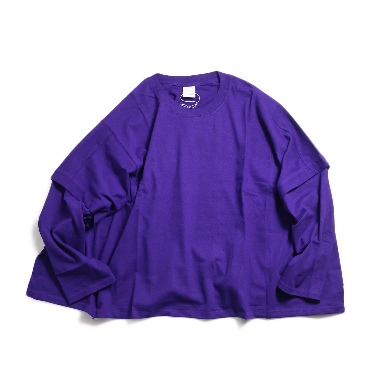 PRE_ Poncho LS Tee -Purple
