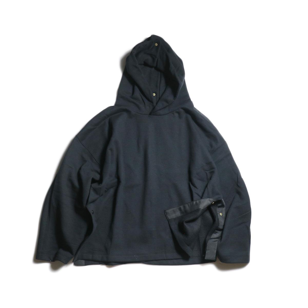 PRE_ / Poncho Snap Hood (Black)