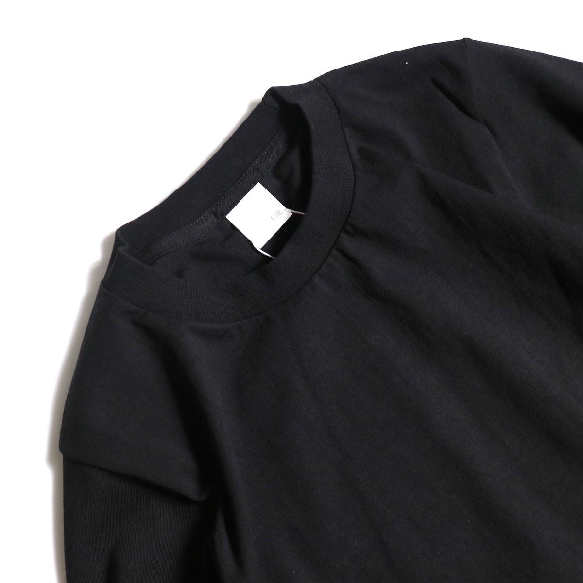 PRE_ / SIDE TUCK LS T TALL (Black)襟