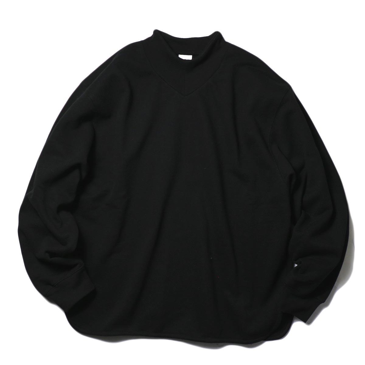 PRE_ / V ROUND SWEAT (black) 正面