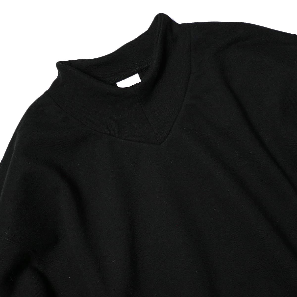 PRE_ / V ROUND SWEAT (black) 襟
