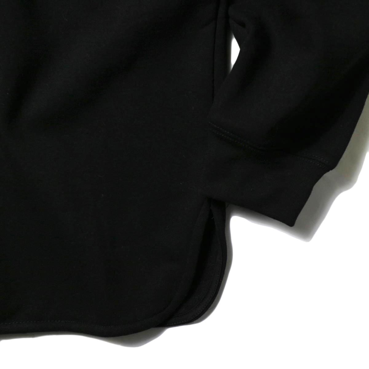 PRE_ / V ROUND SWEAT (black) 袖・裾
