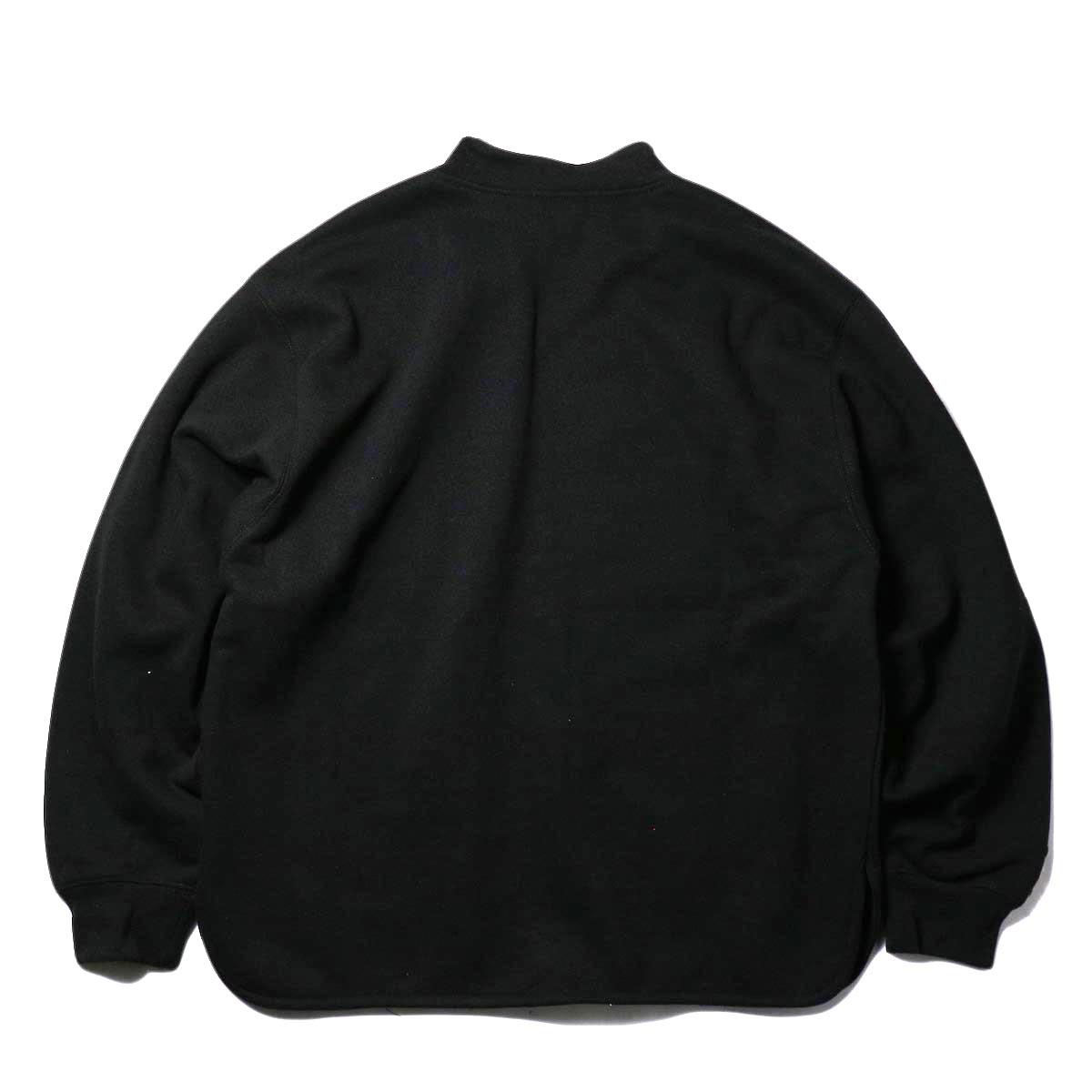 PRE_ / V ROUND SWEAT (black) 背面