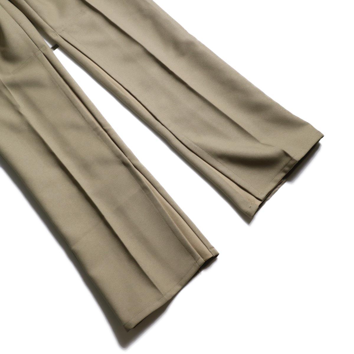 PRE_ / ZK OPEN PANTS (Tan)裾