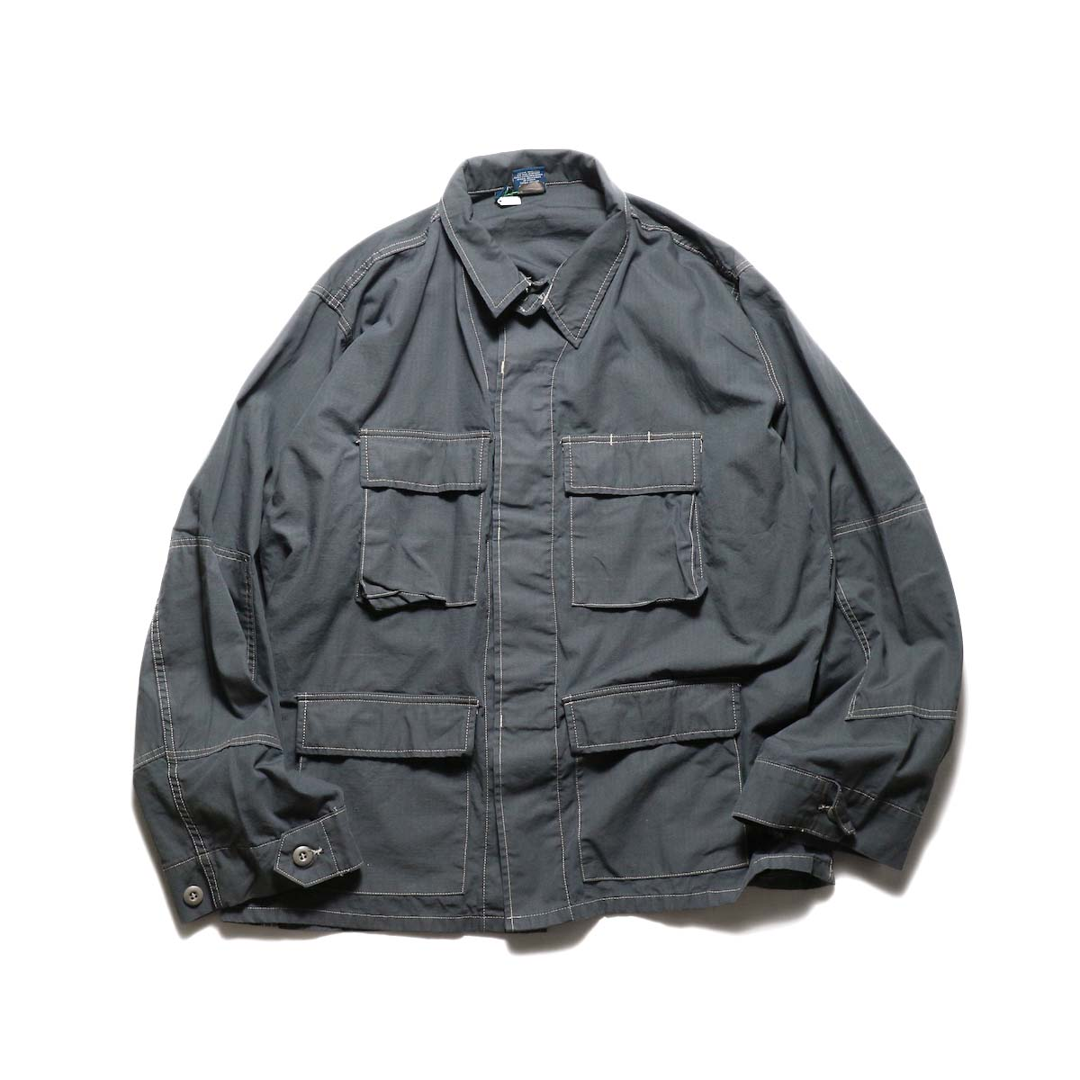 PROPPER OVER DYE BDU COAT (Charcoal)正面