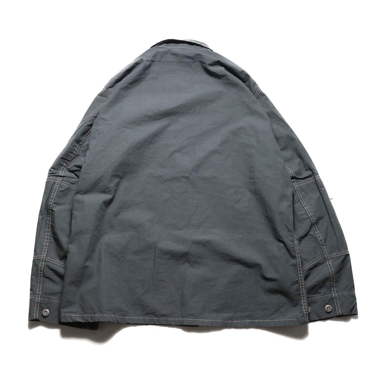 PROPPER OVER DYE BDU COAT (Charcoal)背面