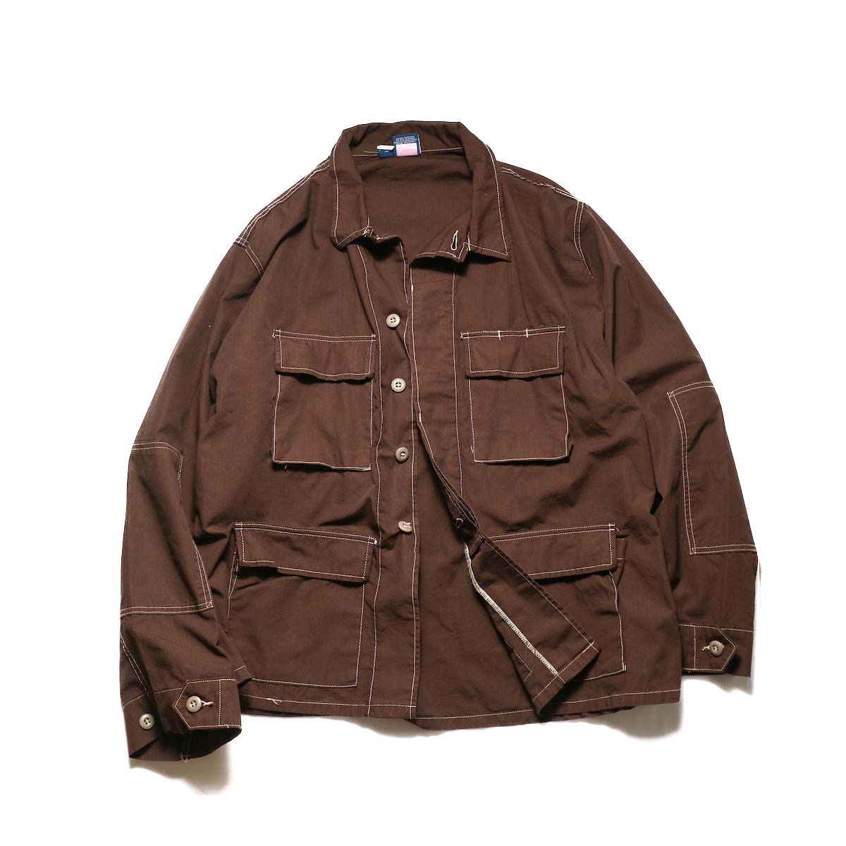 PROPPER OVER DYE BDU COAT (Chocolate)正面