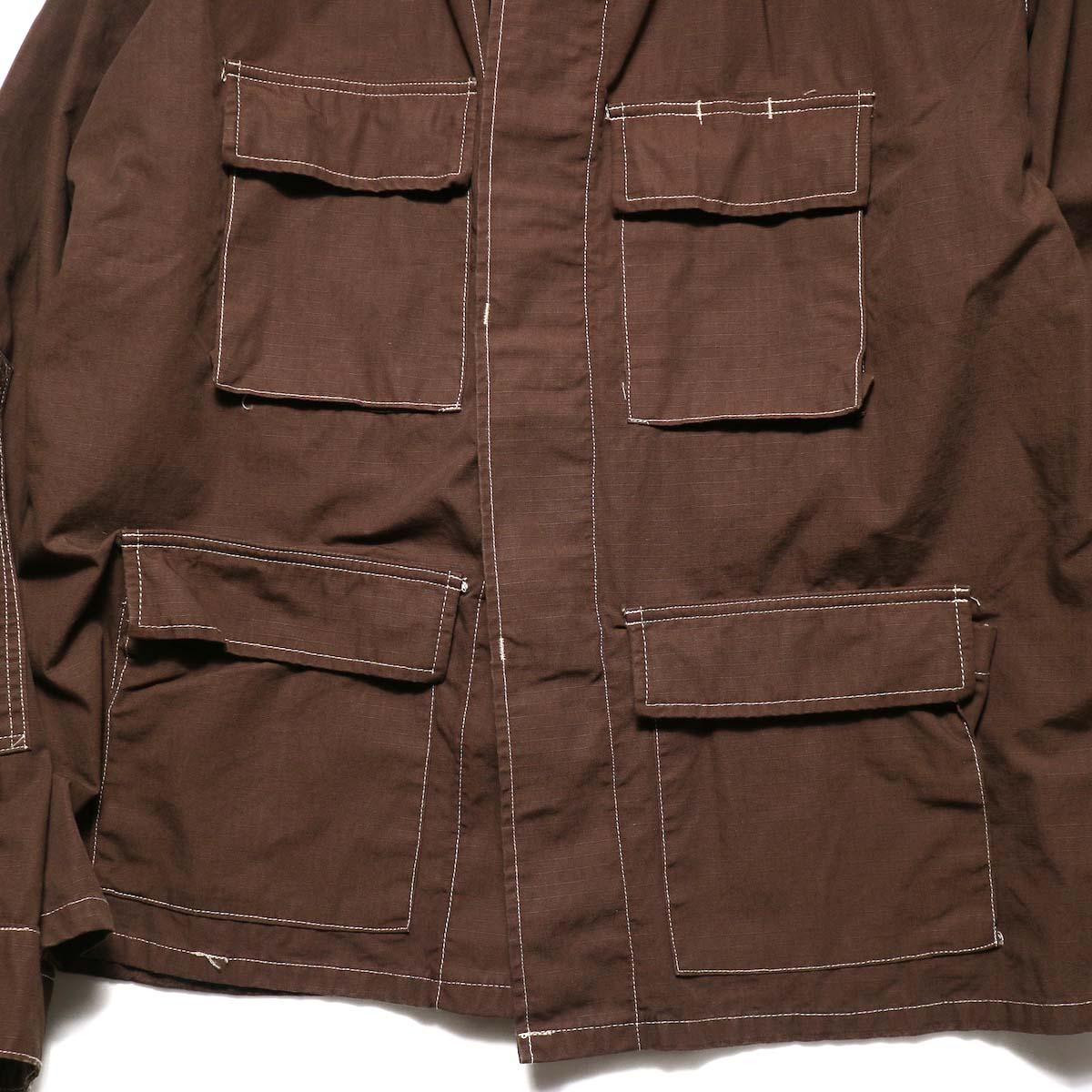 PROPPER OVER DYE BDU COAT (Chocolate)4ポケット