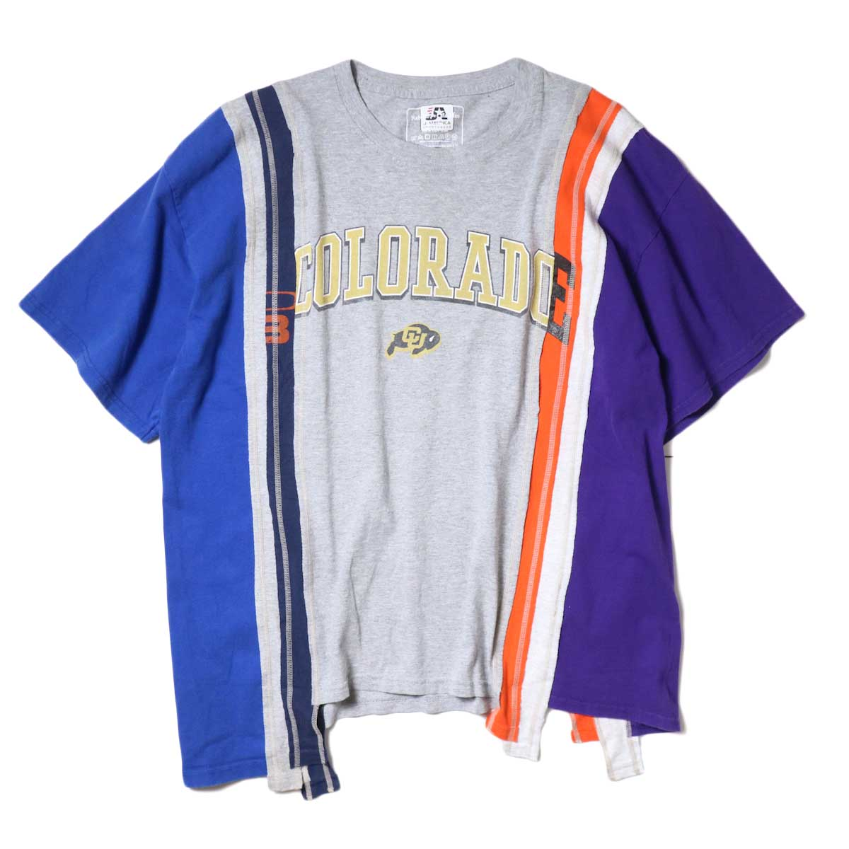 Rebuild By Needles / 7 Cuts Wide Tee - College (A)