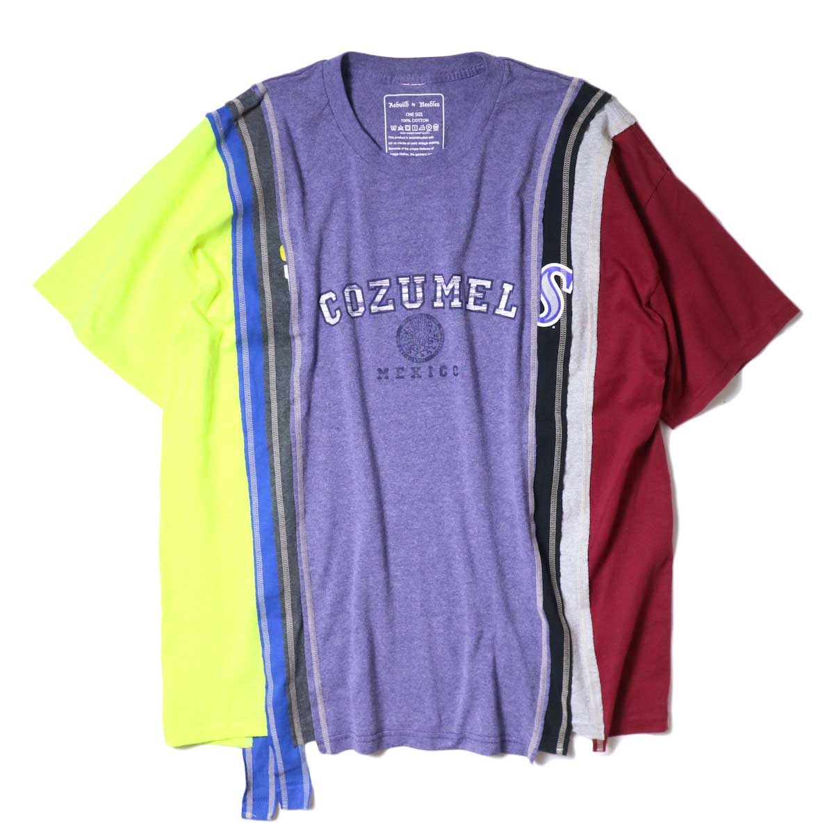 Rebuild By Needles / 7 Cuts Wide Tee - College (B)