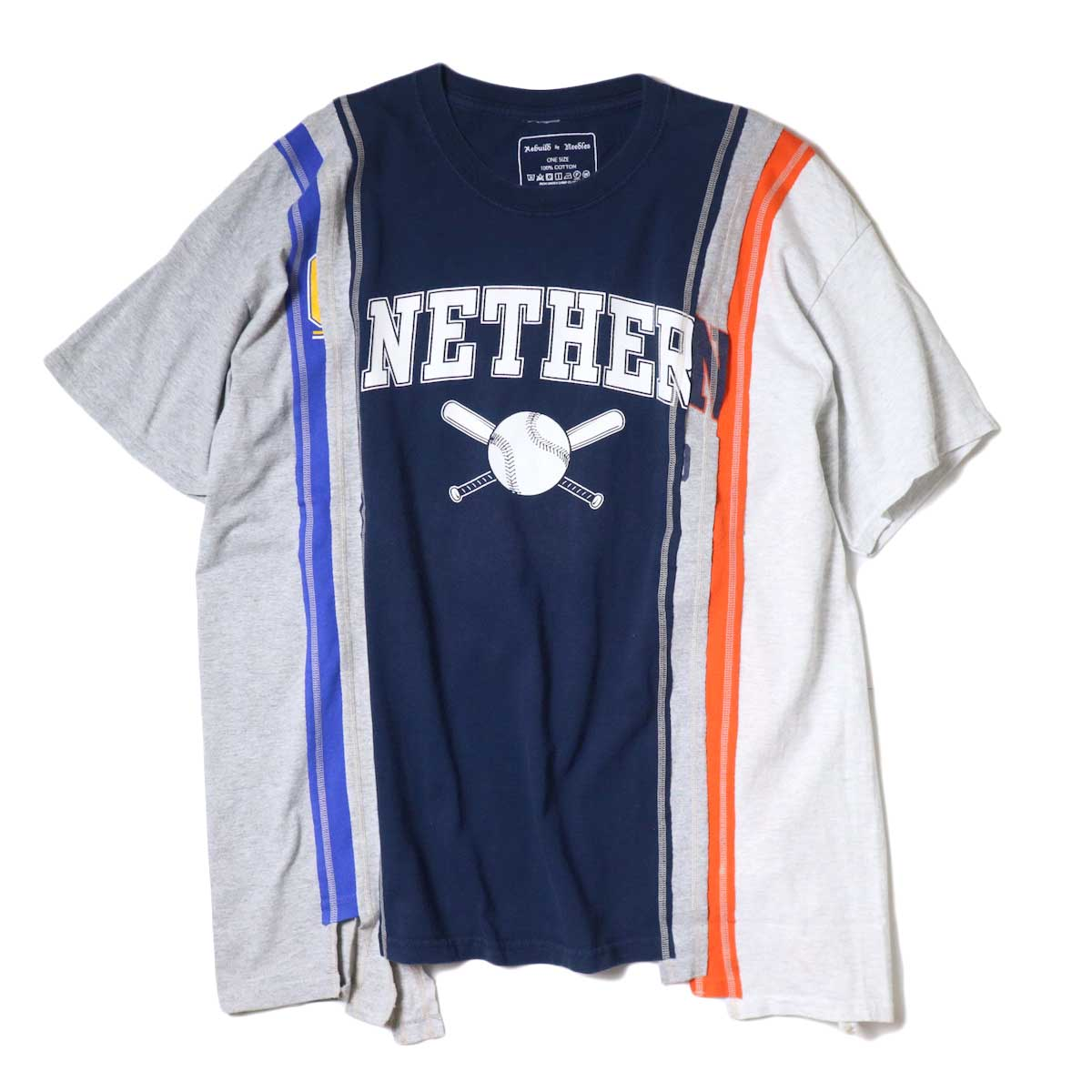 Rebuild By Needles / 7 Cuts Wide Tee - College (F)