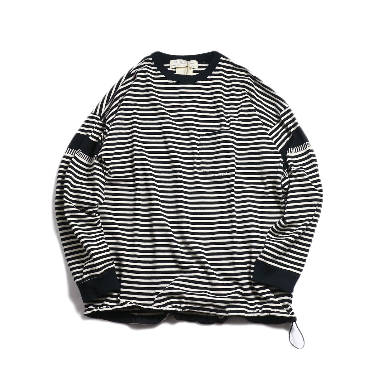 REMI RELIEF / 切替ボーダーロンTee (RN18249092) -OFF×BLACK