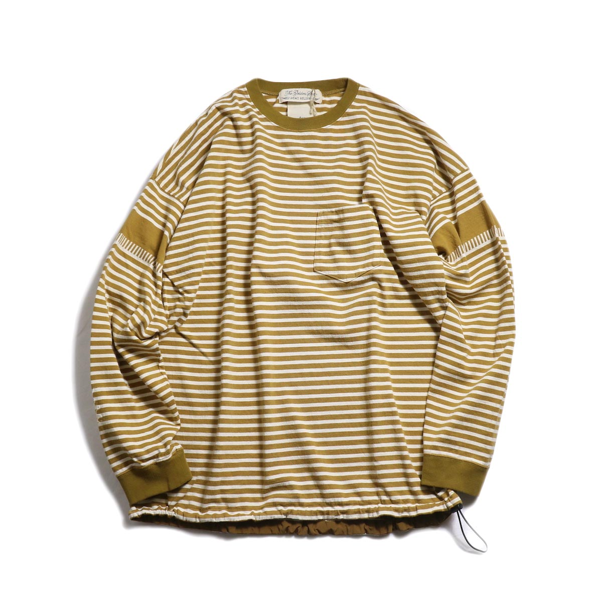 REMI RELIEF / 切替ボーダーロンTee (RN18249092) -OFF×MUSTARD