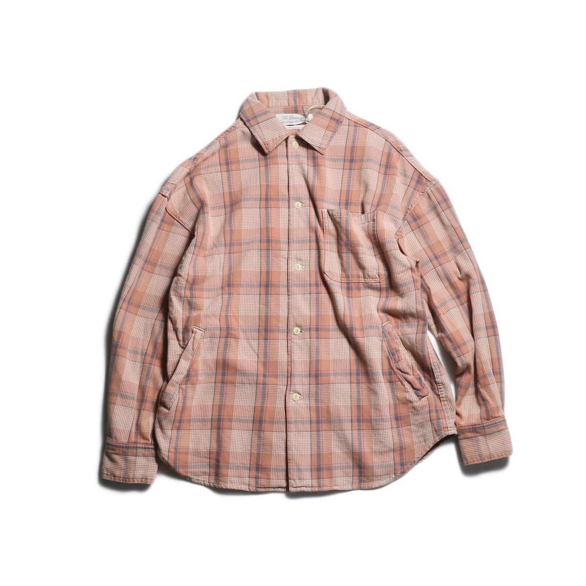 REMI RELIEF / チェックオープンシャツ (Orange)