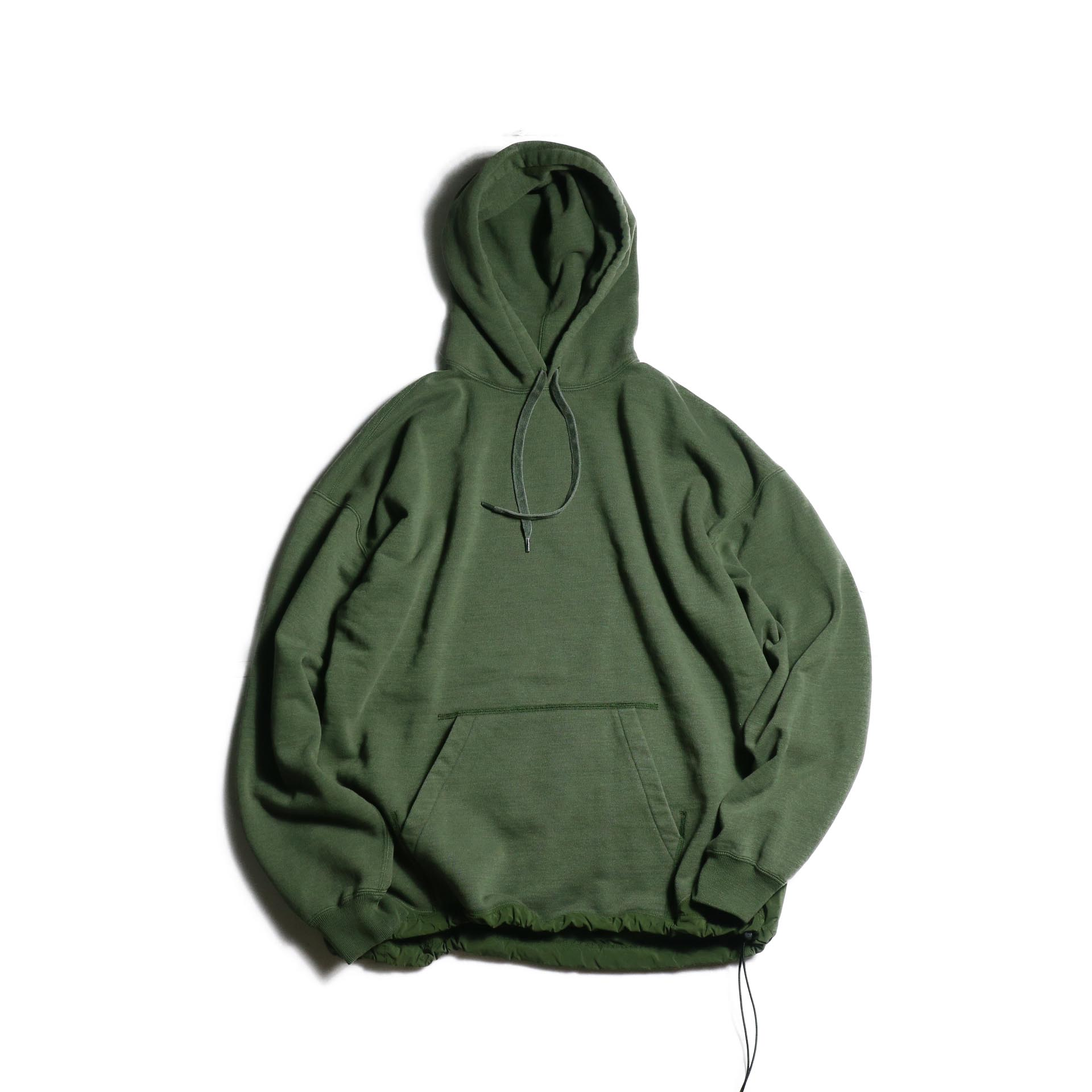 REMI RELIEF × BRIEFING / T/C裏起毛プルパーカ (Khaki)