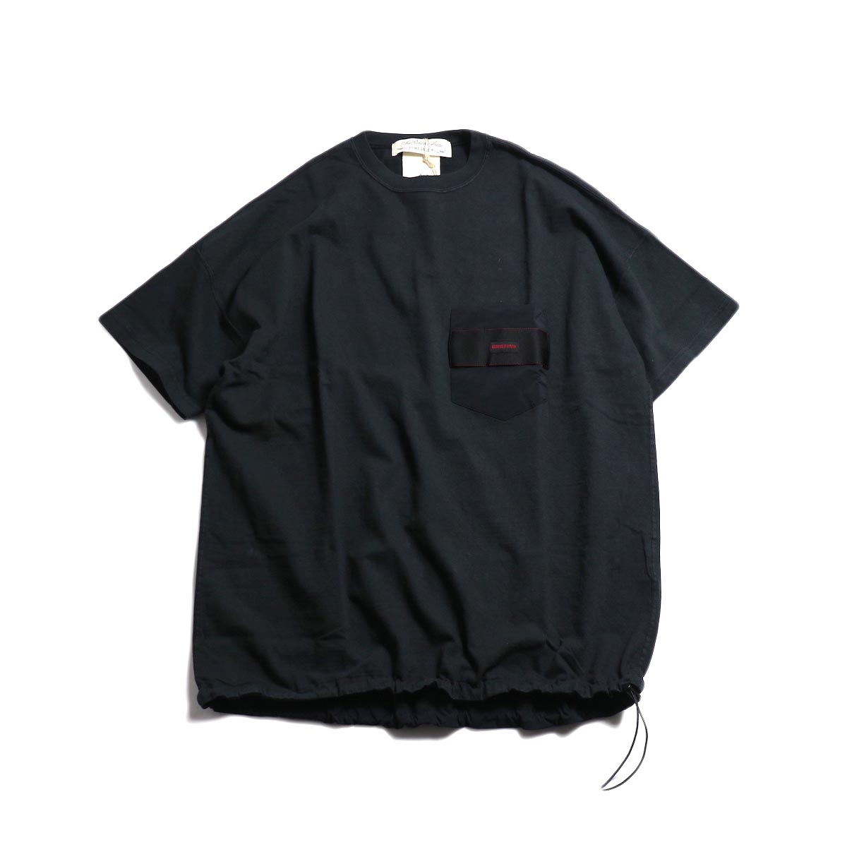 REMI RELIEF × BRIEFING / S/S Pocket Tee -Black