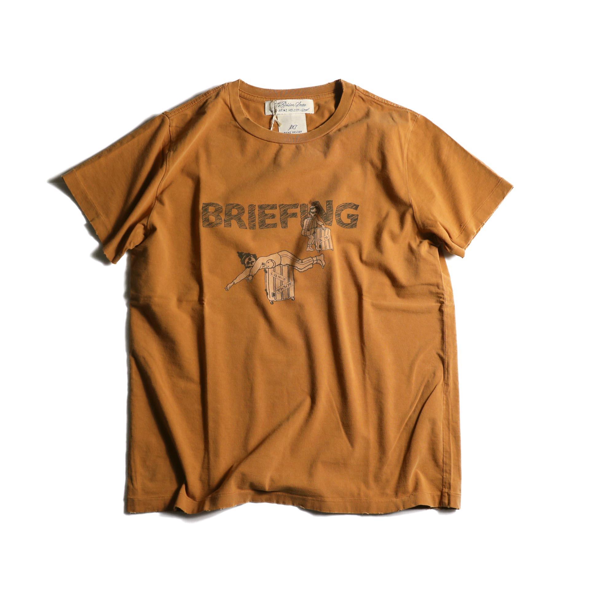 REMI RELIEF / スペシャル加工T(BRIEFING)(D.ORANGE)