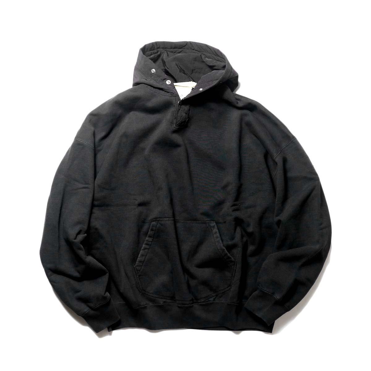 REMI RELIEF / ポリエステルフードパーカ (Black)