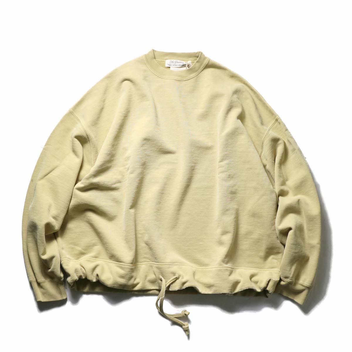 REMI RELIEF / スペシャル加工裏毛 アウトドアクルー (Yellow)