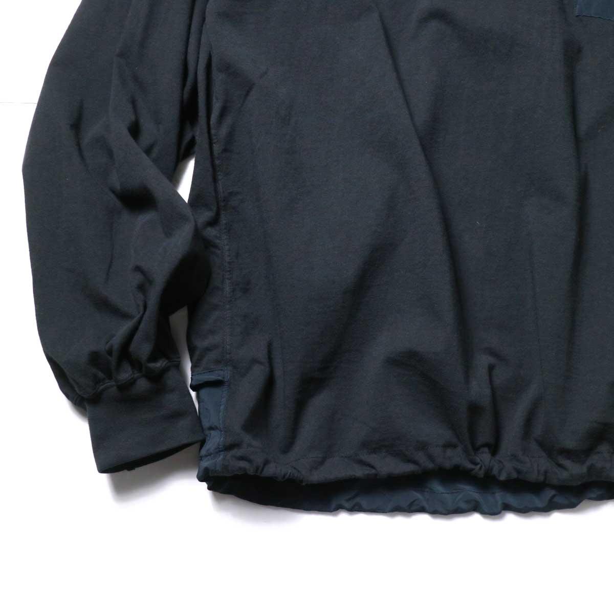 REMI RELIEF / ブリーフィング 30/天竺ベンチレーションロンT (Black)袖、裾