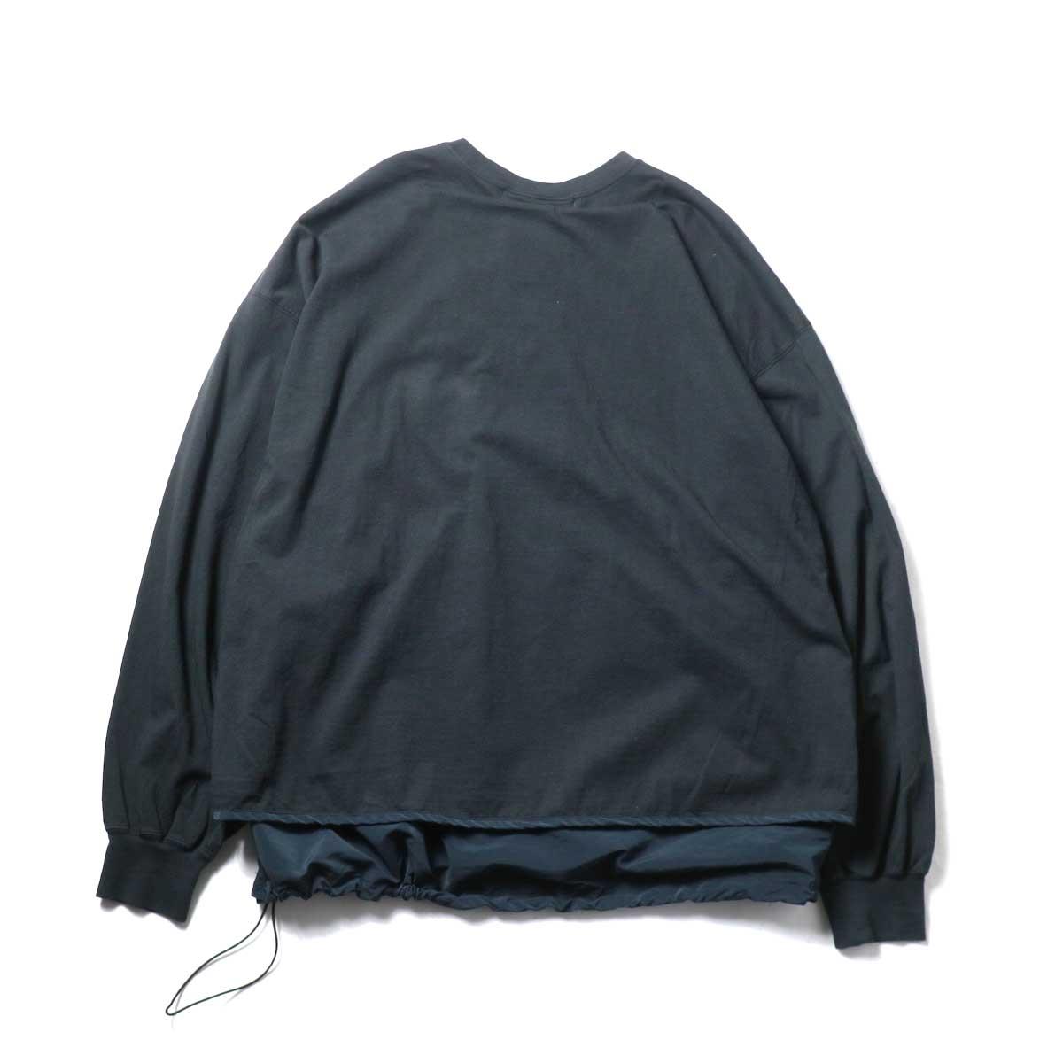 REMI RELIEF / ブリーフィング 30/天竺ベンチレーションロンT (Black)背面