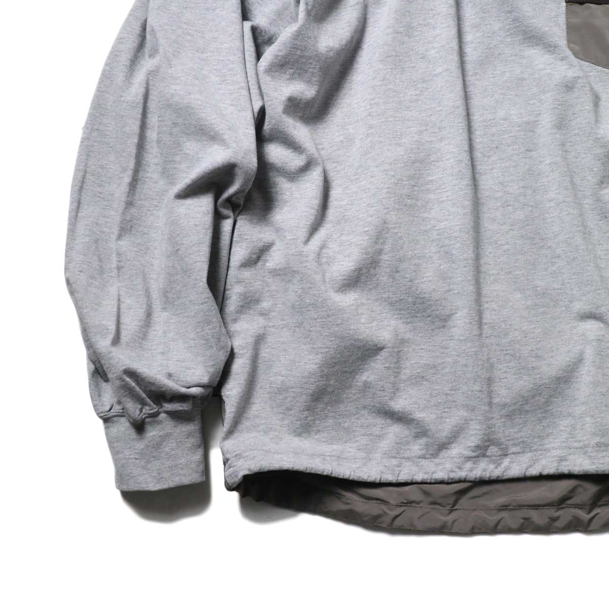REMI RELIEF / ブリーフィング 30/天竺ベンチレーションロンT (Gray)袖、裾