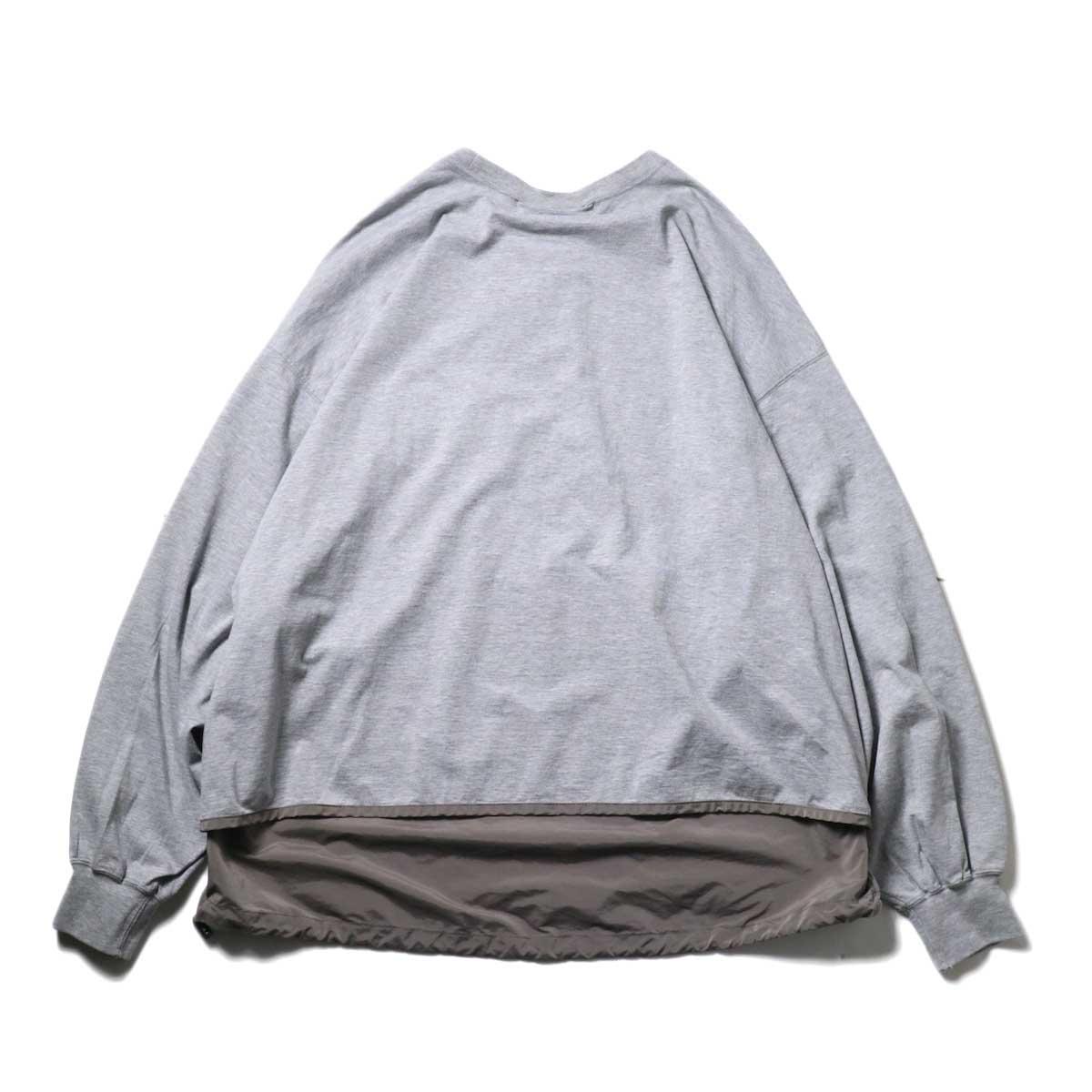 REMI RELIEF / ブリーフィング 30/天竺ベンチレーションロンT (Gray)背面