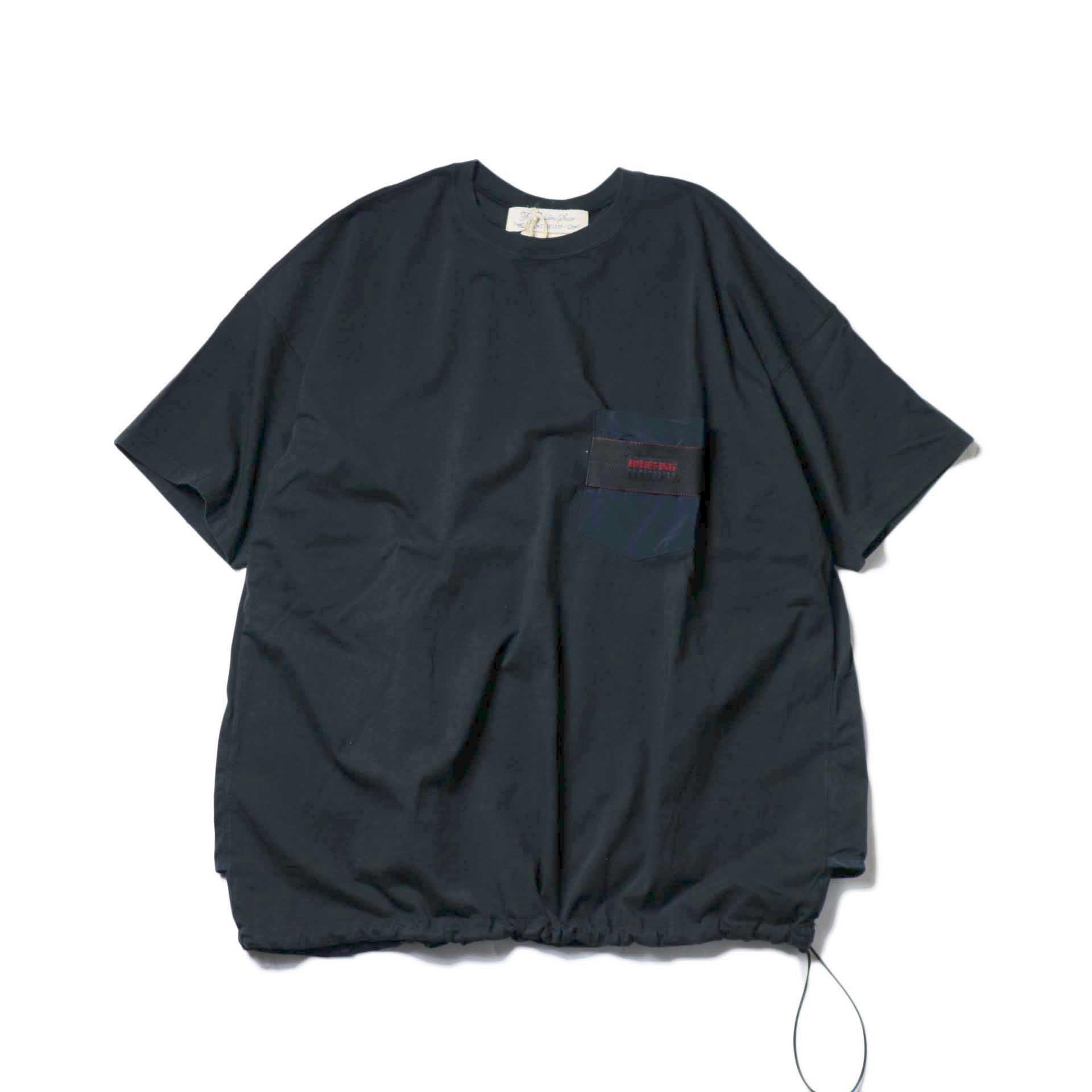 REMI RELIEF × BRIEFING / 天竺ベンチレーションTee (Black)
