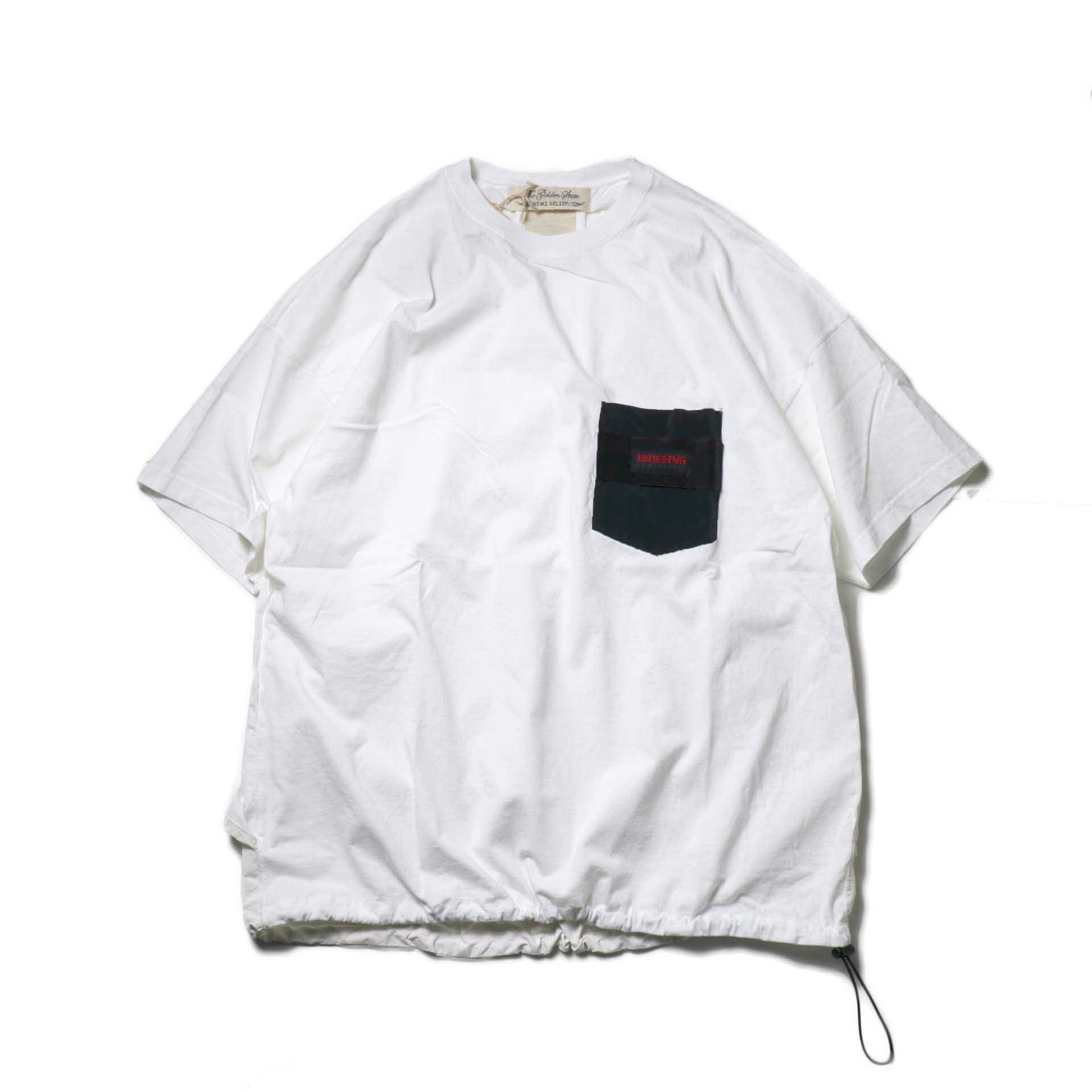 REMI RELIEF × BRIEFING / 天竺ベンチレーションTee (off)